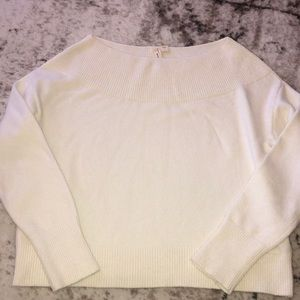 Anthropologie Moth Cropped Sweater XS Beige